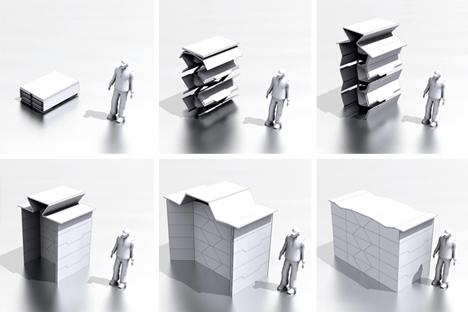 guerilla housing origami shelter