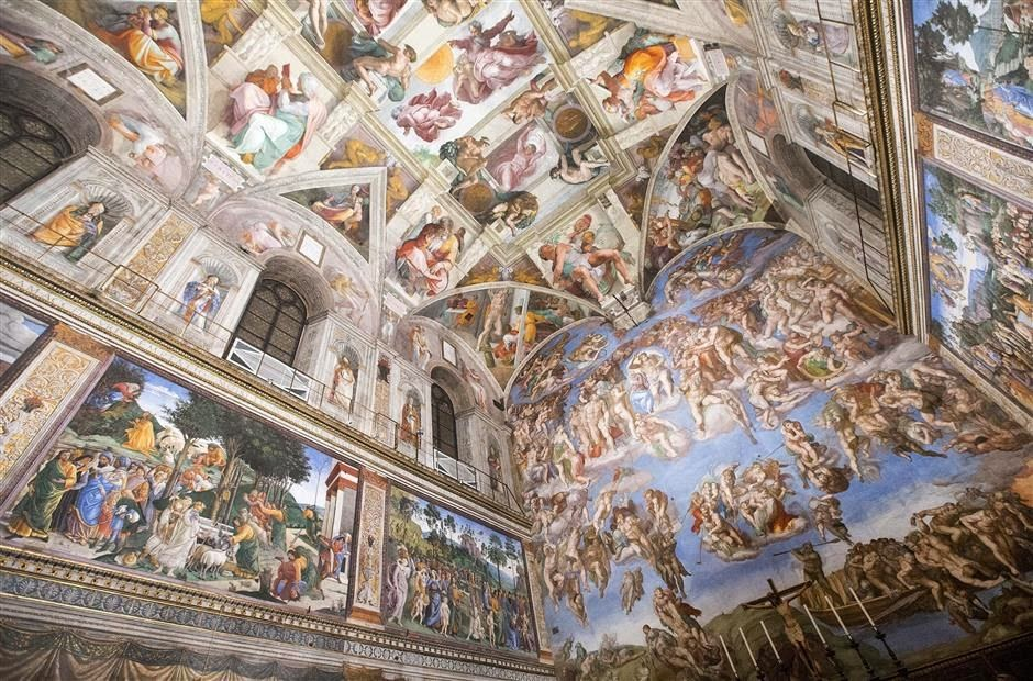 led lit sistine chapel