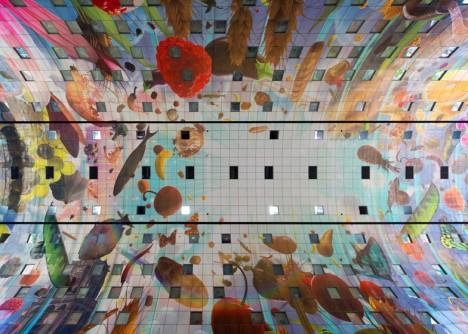 market hall ceiling shot