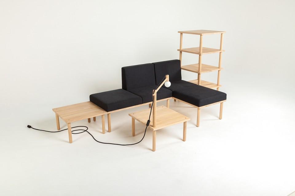 Modular Minimalism 5 Part Kit To Create Infinite Furniture Urbanist