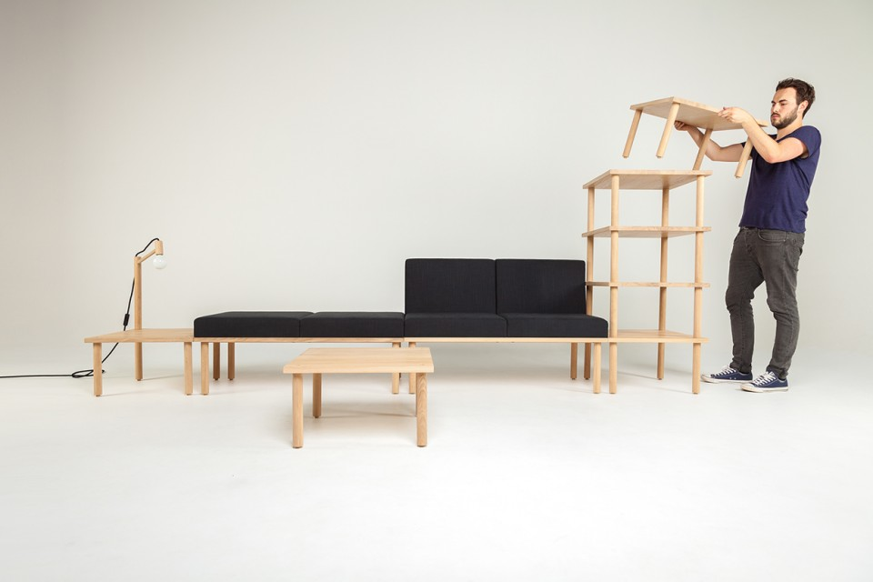 Awesome Modular Stacked Furniture Design