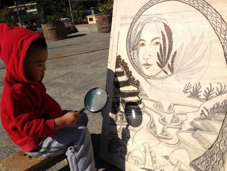 Solar Powered Art Etched With A Magnifying Glass Amp The Sun