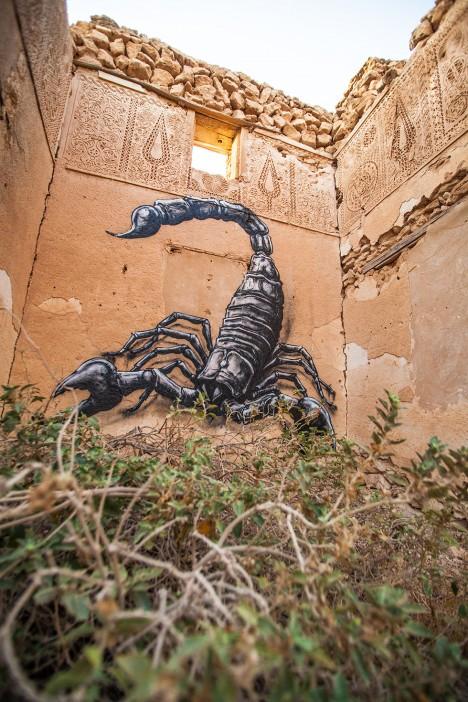 roa murals abandoned buildings