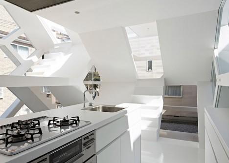 see through kitchen area