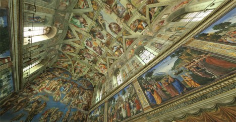 sistine chapel in daylight