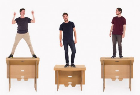 Refold Workstation Mobile FlatPack Cardboard Standing Desk