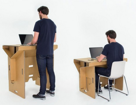 standing or sitting down