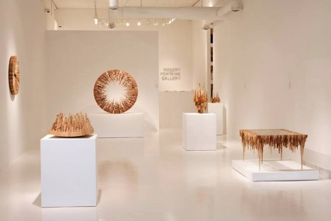 wood art in gallery