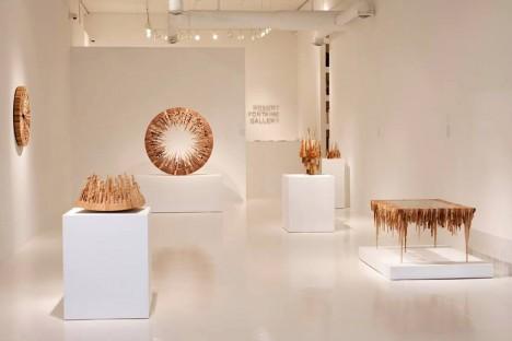 wood art in gallery