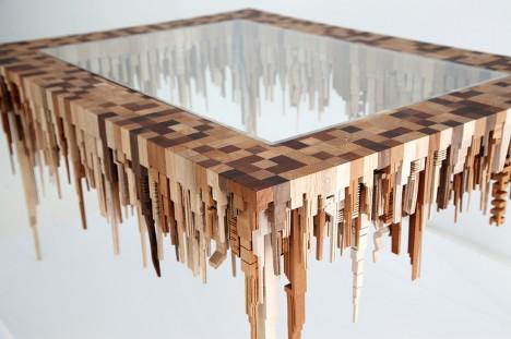wood sculpture table design