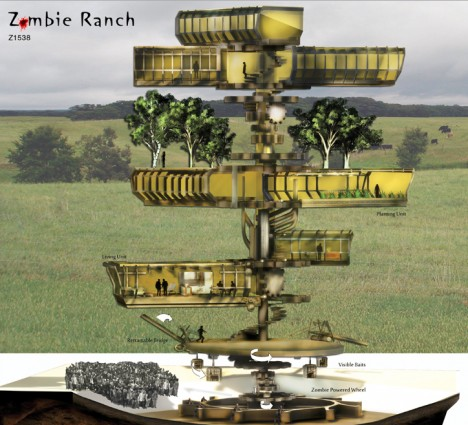 zombie ranch above below