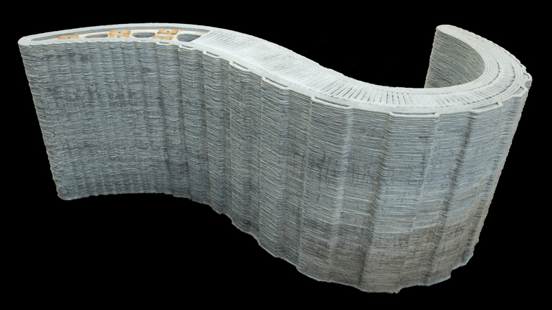 3d printed concrete wall