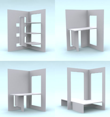 Fold Out Flat Pack Room Divider 1