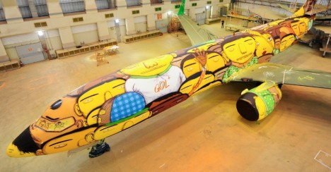 Large murals boeing os gemeos 1