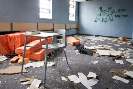 abandoned camp 30 classroom