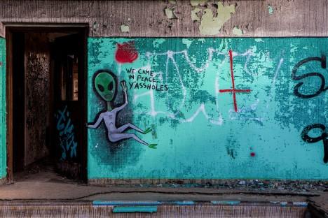 abandoned camp 30 pool graffiti