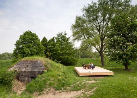 bunker house concrete wood