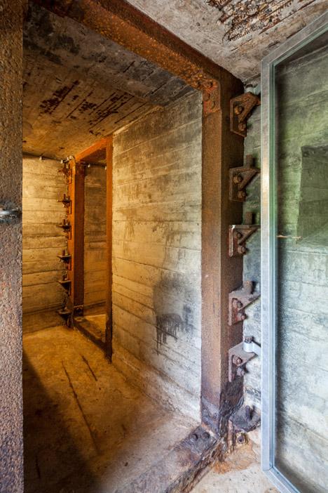 bunker house glass metal