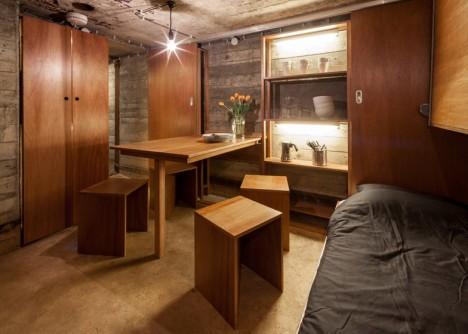 bunker house living sleeping