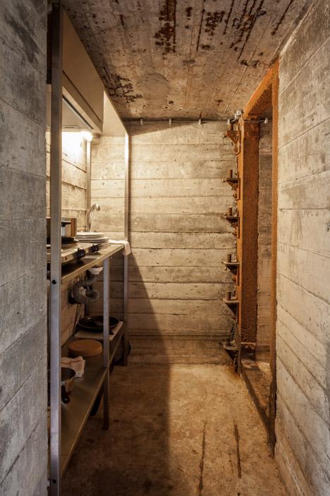 bunker house minimal kitchen