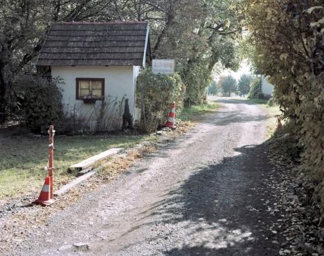 deserted german border crossing