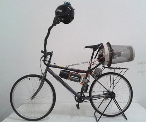 futuristic air filter bike