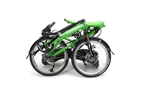 futuristic grasshopper folding bike 2