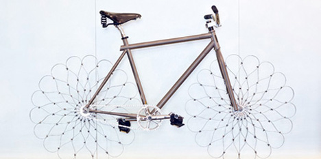 futuristic steel wheel bicycle 1