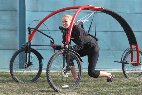 futuristic streetflyer bicycle