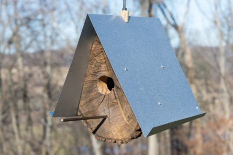 log architecture birdhouse design