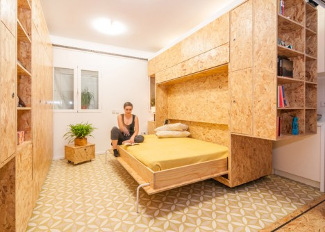 modular bedroom configuration open