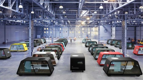 modular office warehouse cars