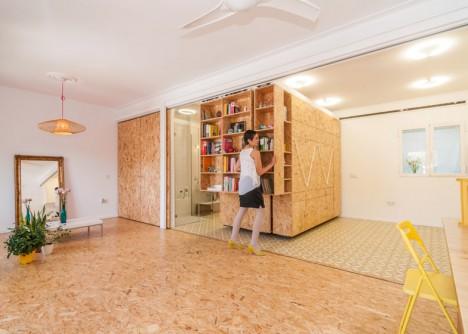 modular room shuffle sliding