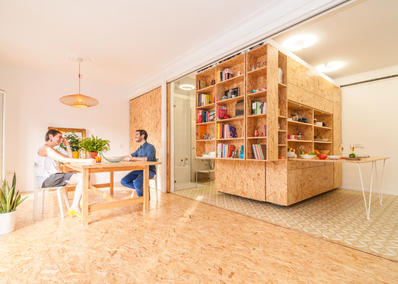Split Slide Modular Dividers Make 3 Rooms in Single Space Urbanist
