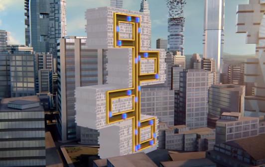 multi futuristic maglev elevators