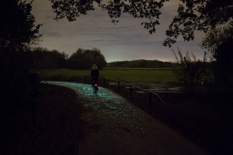 night path cyclist picture