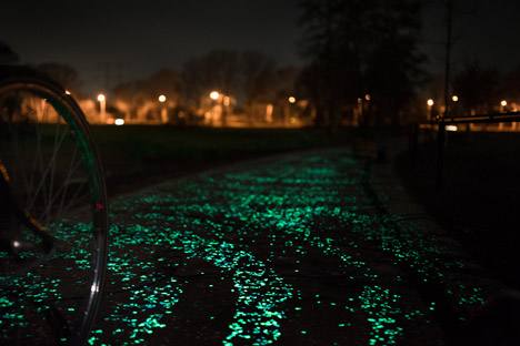 night path holland biking