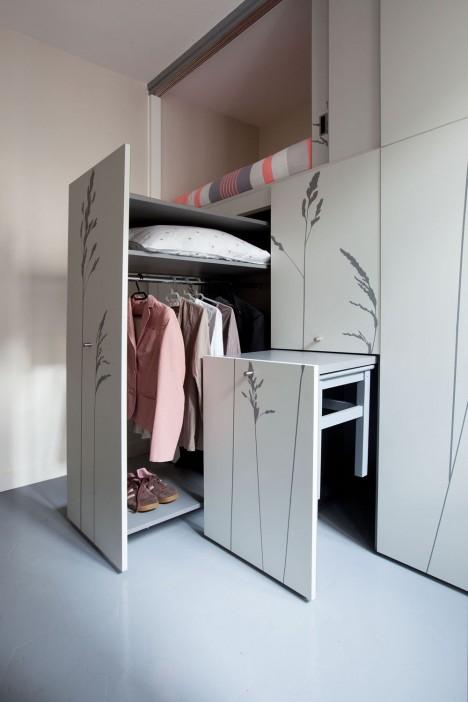 paris home shelves drawers