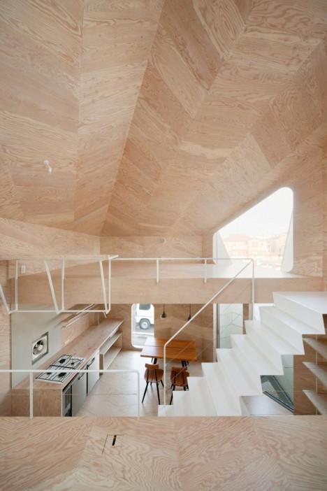 Herringbone House Tiny Tokyo Residence Split Into 7 Levels Urbanist - tiny house interior walls