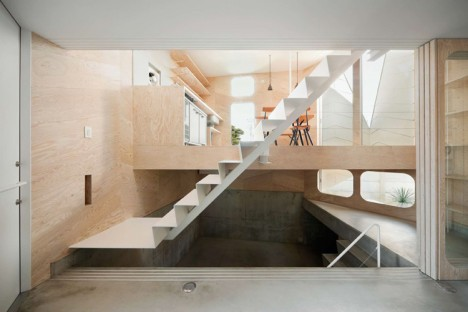 Herringbone House Tiny Tokyo Residence Split into 7 Levels Urbanist