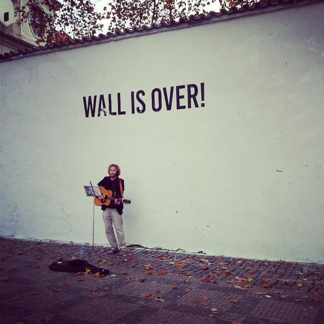 Prague Lennon Wall Painted White