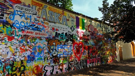 whitewashed john lennon wall
