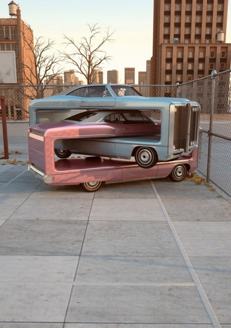 Chris-Labrooy-car-truck-graphic-art-auto-aerobics-pink2