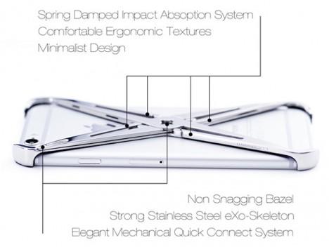 exoskeleton design iphone case 2