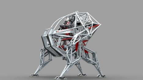 Man creates Prosthesis the first human-piloted racing robot, Vancouver, Canada - 21 Jan 2014