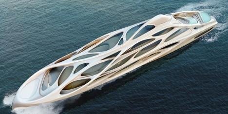 exoskeleton design zaha hadid yacht 1