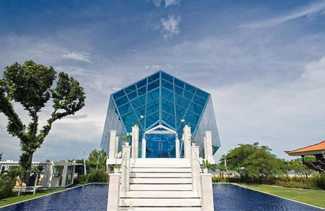 gemstone architecture diamond chapel bali 2