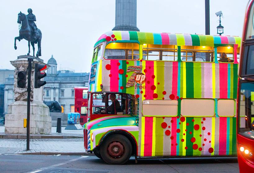 Yarn Bomb Bus: Knitted Double Decker Cruises Around London