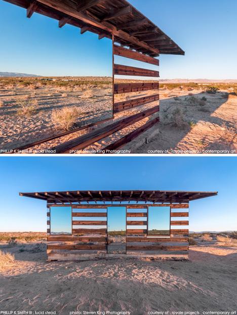 mirror buildings desert cabin 3
