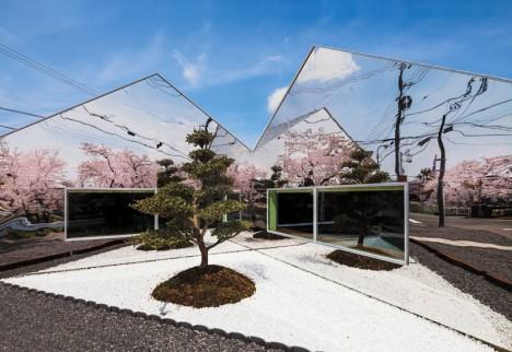 mirror buildings roadside cafe 1